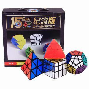 4 ピース/セット パック奇妙な形 マジック ルービックキューブ パズル おもちゃ のお米ピラミッド Megaminx ルービックキューブ okuda-store