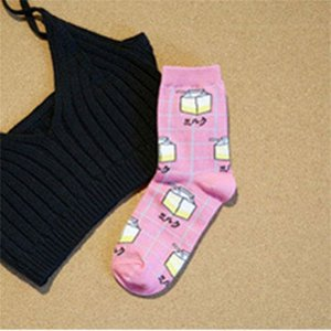 春 夏のミルク スタイル 日本 韓国 原宿 スタイル ハイ ストリート ソックス 綿のアルファベット レディース 靴下 カレッジ風 okuda-store