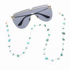 ファッション レディース 眼鏡 チェーン サングラス 老 眼鏡 チェーン ターコイズ eyewearsコード ホルダー ネック ストラップ|okuda-store