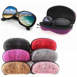 1個 ファッション サングラス ハード ケース ジッパー eva ピーナッツ ポータブル 老 眼鏡 眼鏡 ホルダー プロテクター 箱 眼鏡|okuda-store