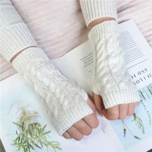 新 ファッション レディース メンズ スタイリッシュ ハンドフォーマー 冬 手袋 かぎ針編み ウール ミトン 暖かい指なし 手袋|okuda-store