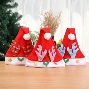 新しいソフト ぬいぐるみ クリスマス 枝角 帽子 キャップ キッズ 子供 衣装 トナカイ 祭 の新年 休日用品|okuda-store