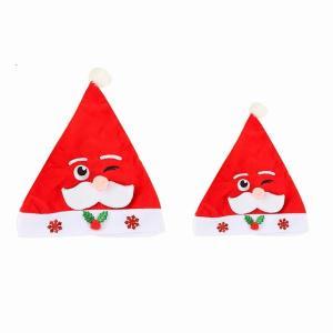 サンタクロース 帽子 キャップ パーティー 子供 冬 ぬいぐるみ クリスマス 装飾新年 キッズ 休日用品|okuda-store