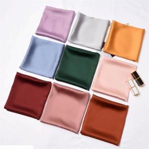 暖かい小さな スカーフ レディース 専門の純粋な色 スカーフ レトロ スカーフ レディース シルク ネッカチーフ バンダナ|okuda-store