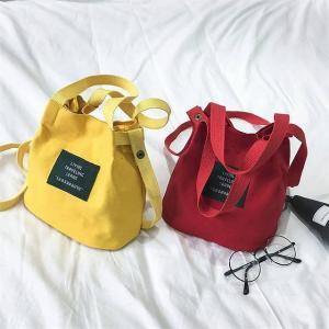 レディース キャンバス Handpack キャンディー カラー防水 Bagpacks 用 女の子 かわいい メッセンジャー クロスボディサ|okuda-store