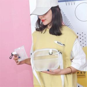 Causual PVC 透明クリア レディース クロスボディ バッグ ショルダー バッグ ハンド バッグ ゼリー小さな 電話 バッグ カード|okuda-store