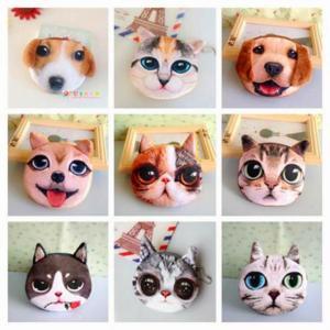 2020 新  キャラクター  3D かわいい 子供 たちの 財布 バッグ 動物 顔 ジッパー ミニ 猫コイン 財布 変更 財布 キッズ バ|okuda-store