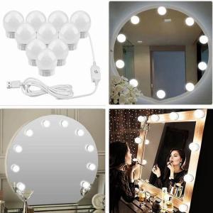 ドレッシング テーブル LED 12V 化粧鏡電球バニティ ライト 無段階調光 USB 充電ポート調整輝度 ライト okuda-store