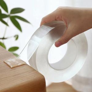 1メートル/3メートル/5メートル再利用可能なナノ テープ 両面 テープ 透明痕跡防水 粘着 洗浄可能 テープ 反射シール okuda-store