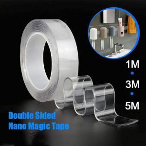 両面ナノ テープ 洗える再利用ナノ テープ 透明痕跡防水 粘着 テープ ナノ テープ 反射シール リフレクター 蛍光反射シー okuda-store