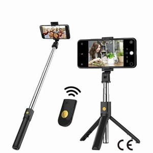 bluetooth selfieスティック リモコン 三脚handphoneライブ フォト ホルダー 三脚 カメラ セルフタイマーアーティフ okuda-store