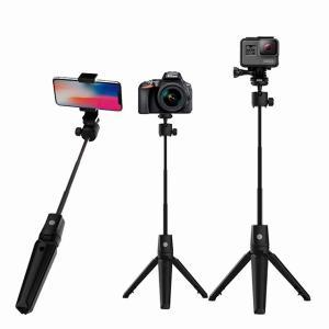 K20アルミ合金bluetooth selfieスティック 携帯電話 カメラ ユニバーサルselfieスティック自撮り棒 B okuda-store