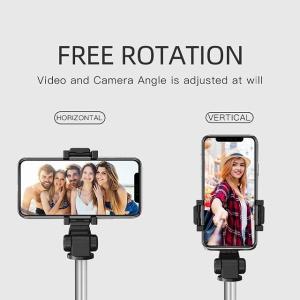 ワイヤレス リモコン 、 携帯電話 のbluetooth selfieスティックワンピース拡張可能ミニ三脚selfieスティック電話 okuda-store