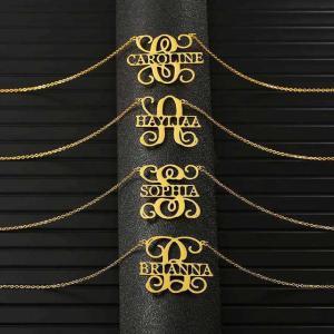 カスタムネーム ペンダント ネックレス 記念日 の 誕生日 ジュエリー のための最初の文字の大文字のステンレス鋼の ネックレス|okuda-store
