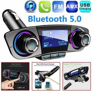 Bluetoothカーキット ワイヤレス 車 MP3プレーヤーfm トランスミッタ ハンズフリー オーディオ 電源をオン受信デュアルusb|okuda-store