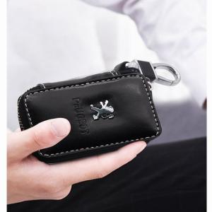 車 の キー ケース 革財布 キー ホルダー 家政婦 カバー キー ホルダー プジョー206 207 307 3008 2008 308|okuda-store