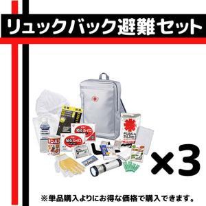 【防災セット】リュックバッグ避難セット×3個セット 248-...