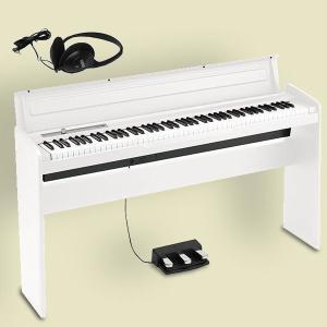KORG LP-180 WH コルグ 電子ピアノ スタンド・3本ペダルユニット・純正ヘッドホン付