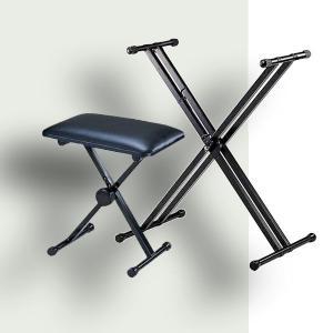 X型スタンド + 折りたたみ椅子(選べるカラー)|okumuragakki