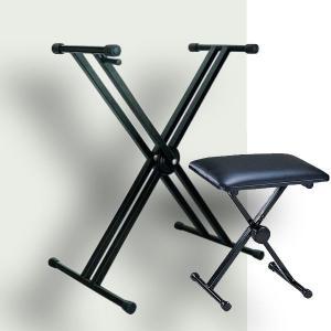 X型スタンド + 折りたたみ椅子 選べるカラー|okumuragakki