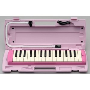 YAMAHA P‐32EP ピアニカ ピンク   ●便利なパイプクリップ 新しい演奏用パイプの差し込...
