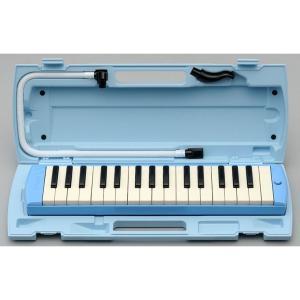 YAMAHA P‐32E ピアニカ ブルー   ●便利なパイプクリップ 新しい演奏用パイプの差し込み...
