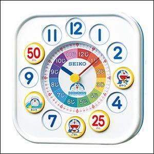 ・時間の感覚や時計の読み方を覚え始めるお子様に向けて、楽しく学べるドラえもんの知育時計です。マグネッ...