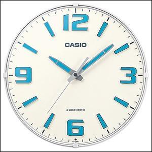 CASIO カシオ クロック IQ-1009J-7JF 掛時計 ホワイト 電波時計|okurimonoya1