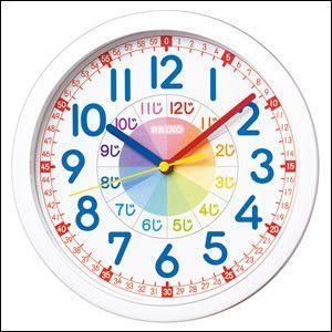 SEIKO セイコー クロック KX617W 掛け時計 知育...