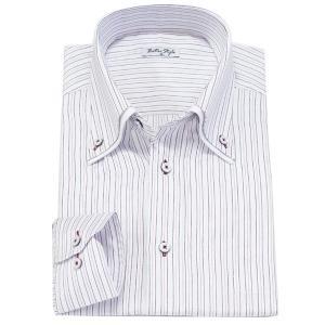 ビジネスシャツ ワイシャツ Yシャツ 長袖 カラーシャツ ダ...