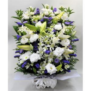 菊とユリの入ったお供え お悔やみ生花アレンジメント(大) |okusa