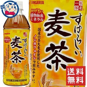 【1ケース送料無料】サンガリア すばらしい麦茶 500ml×24本 ※北海道沖縄その他一部地域は送料無料対象外 okusuya