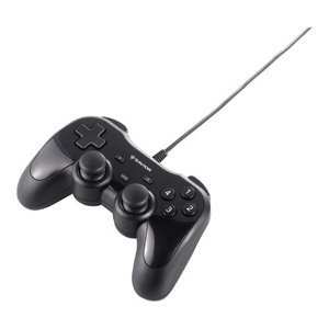 iBUFFALO USBゲームパッド 12ボタン 振動機能付 ブラック 【ドラゴンズドグマ オンライン 動作認定モデル】 BSGP1204BK|olap