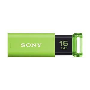 ソニー SONY USBメモリ USB3.0 16GB グリーン キャップレス USM16GU G [国内正規品] olap