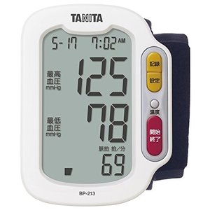 タニタ 手首式血圧計 ホワイト BP-213-WH