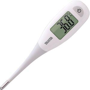タニタ 電子体温計 BT-471-WH ホワイト 大画面で見やすく、先端が柔らかくてはかりやすい体温...