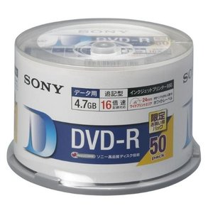 SONY DVD-R データ用 4.7GB 16倍速 50枚スピンドルケース ホワイトプリンタブル 50DMR47HPHG|olap