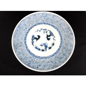 古伊万里 蛸唐草文 3寸大皿 [1-1095]
