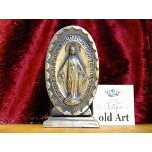 ビンテージ聖母マリア様カトリック置物アンティークオブジェケース【M-10512】【中古】|oldwoods