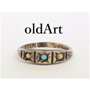 ビンテージインディアンSTERLINGシルバー製キッズベビーリング指輪1号【M-12062】【中古】|oldwoods