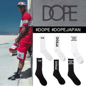 DOPE ドープ LOGO ソックス ブランド ソックス おしゃれ 海外ブランド 芸能人 着用|ole2014