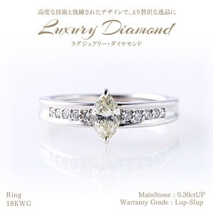 【20%OFF】◆ラグジュアリーダイヤモンド◆リング 0.30ctUP & ダイヤモンド計0.10ctUP [18KWG]|olika