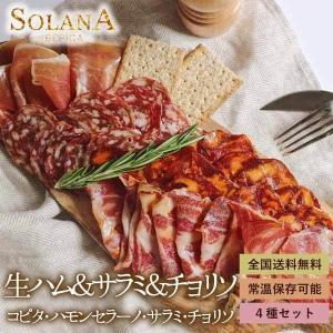 世界三大生ハムで知られるスペイン産・ハモンセラーノと 最高級生ハムで知られるイベリコ豚のサラミ・チョ...