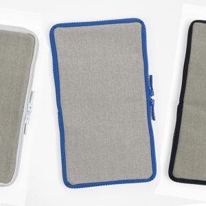 つくし文具店さんの リネン帆布のペンケースです。  ペンケースのまわりに ぐるりとファスナーがあるの...