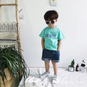 キッズ 男の子 女の子 ボーイ ガール ショートデニムパンツ インディンゴ【677】 olpemi