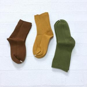 子供 靴下 おしゃれ セット キッズ 韓国子供服 男の子 女の子  リブソックス3点セットA A024 olpemi