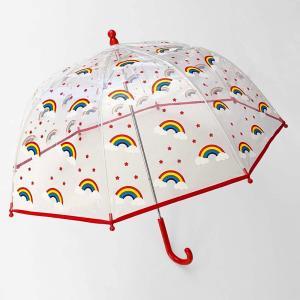 傘 子供用 子供 男の子 女の子 子ども キッズ用 ビニール傘 おしゃれ 韓国雑貨 キッズ クリア×レインボースターアンブレラ【A049】|olpemi