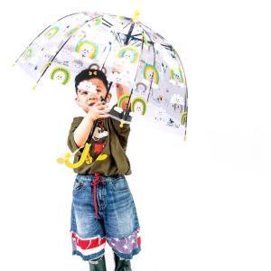 傘 子供 子供用 47cm 子ども 男の子 女の子 ビニール傘 かわいい おしゃれ 韓国雑貨 クリア×CUTEアンブレラ A050|olpemi