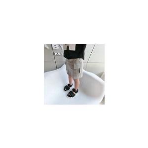 キッズ 男の子 パンツ ショートパンツ ボトムス ハーフパンツ スウェット ポケットスウェットショートパンツ グレー【B053】 olpemi