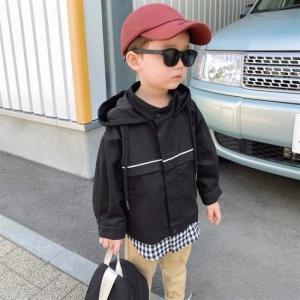 キッズ アウター ジャケット レイヤード 女の子 男の子 韓国子供服 ギンガムレイヤードアウター【O027】|olpemi
